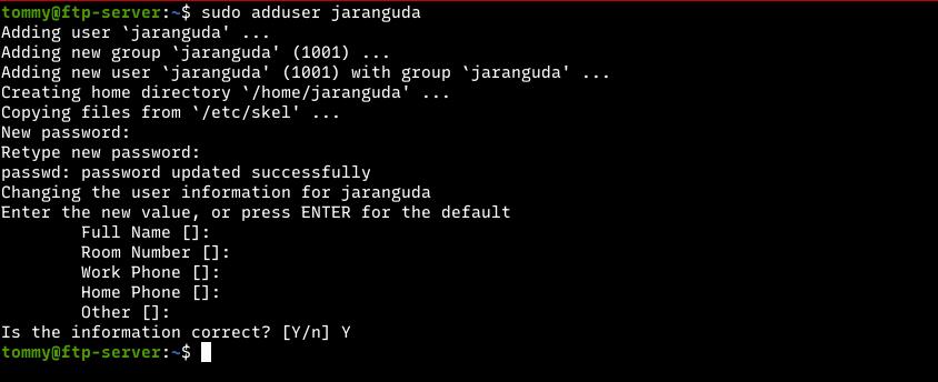 cara menambah user di linux