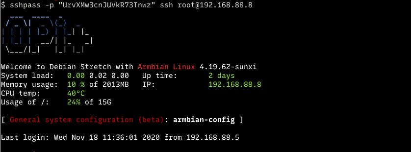 sshpass contoh login