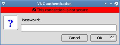 masukkan password vnc server