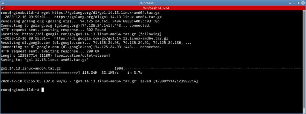 wget download go lang binary