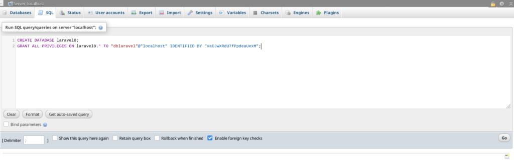 buat database baru dari mysql