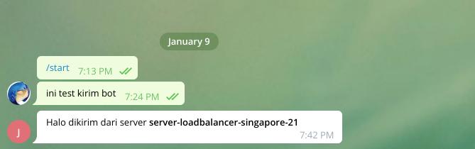 pesan dari bot telegram