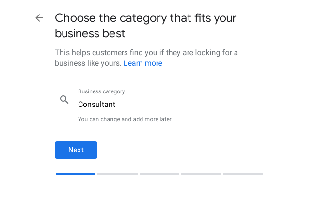 business category google