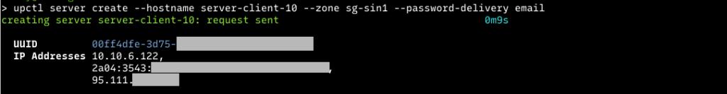 create server using upcloud cli