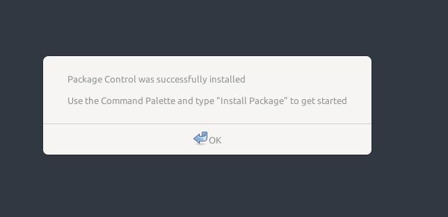 install package controll selesai