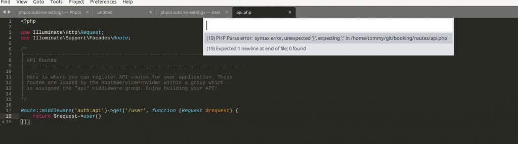 notifikasi bila ada error di file php
