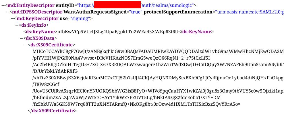 keycloack identity certificate