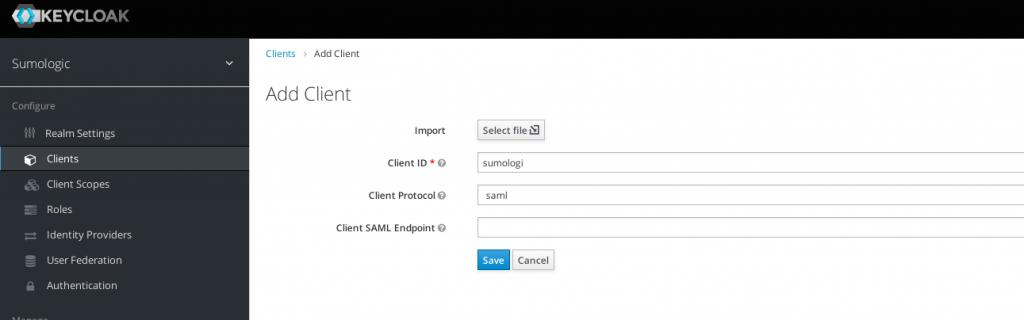 new client keycloak