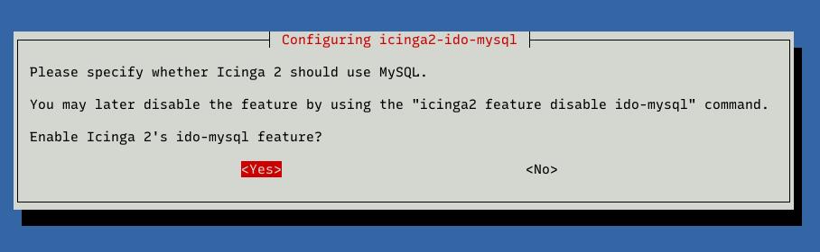 yes enable icinga 2 ido-mysql